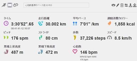 ランニング 30km走